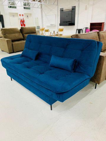 Sofá cama Flip azul, entrega imediata ?