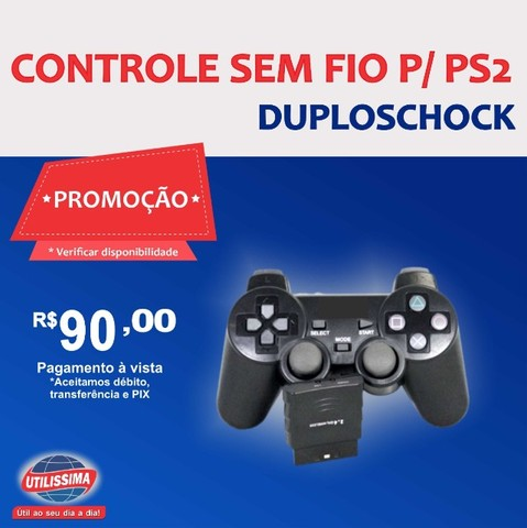 Controle PS2 NS-2020 duploshock ? Entrega Gratis