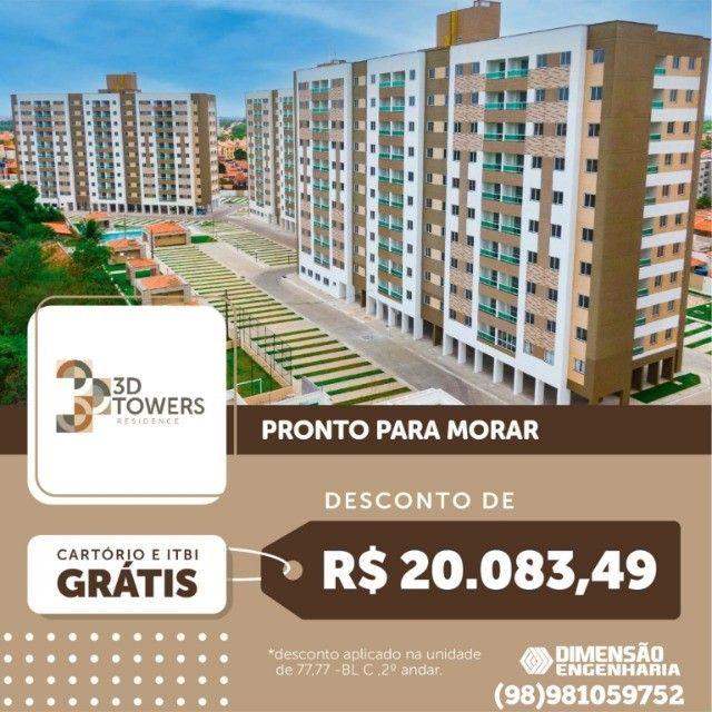 86/ Apartamento na melhor região de São luis, bairro jardim Eldorado.