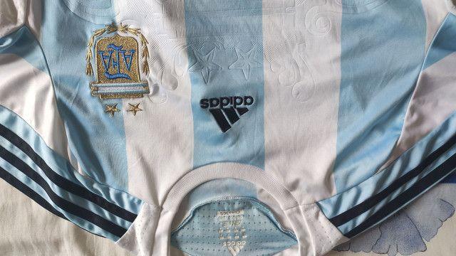 Camisa Argentina Adidas M 2006 - Foto 2
