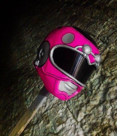 Capacete Power Ranger Turbo Rosa (Cosplay)