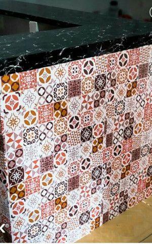 Papel de parede com camada em pvc - Foto 4