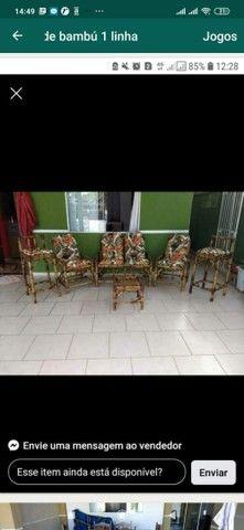 Jogos completos cadeiras de bambu 1 linha  - Foto 2