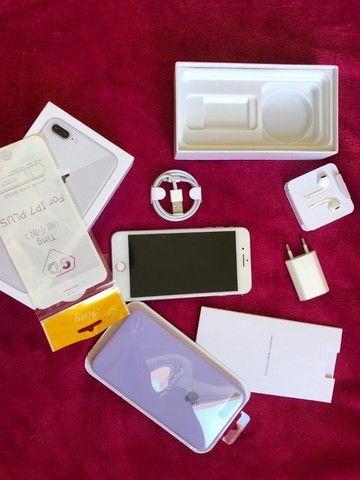 Iphone 8 plus Desbloqueado 64gb Silver - Troco em Iphones superiores - Foto 4