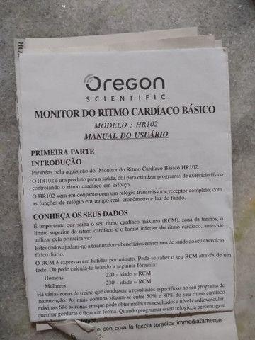 Cinta Transmissora de Monitor Cardíaco Oregon - HR102 - Preto e Cinza - Foto 3