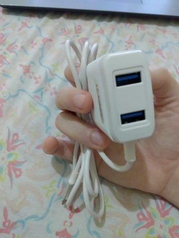 Carregador p/celular com entrada USB dupla extra - Foto 3