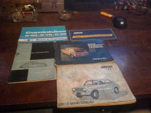 Manual do propietario caminhoes, fusca sedan, vw brasilia e fiat 147