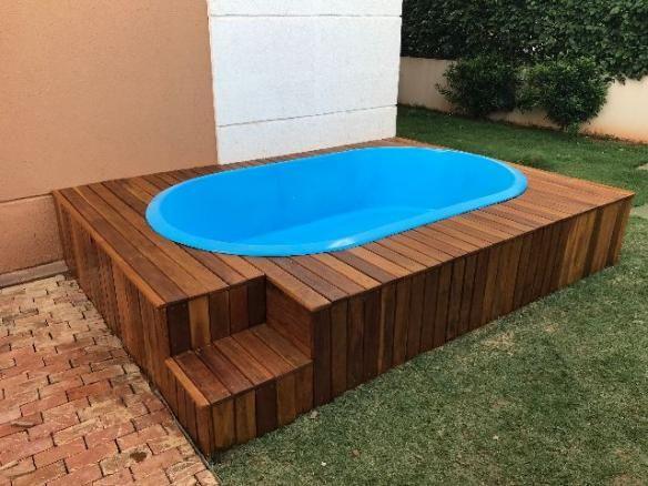 Kit piscina com deck instala o materiais de for Piscina 5x4