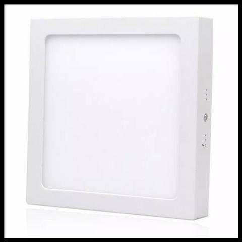 Plafon Luminária Led Quadrado Sobrepor 17x17 12w -Promoção!! Mega Infotech Distribuidora