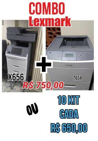 Impressoras Lexmark - Combo ( X656 + T654 )