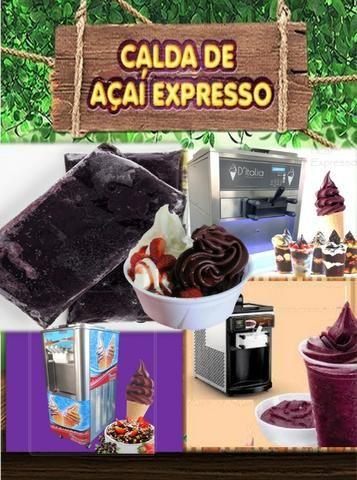 Calda de Açaí pronta para maq. de sorvete expresso