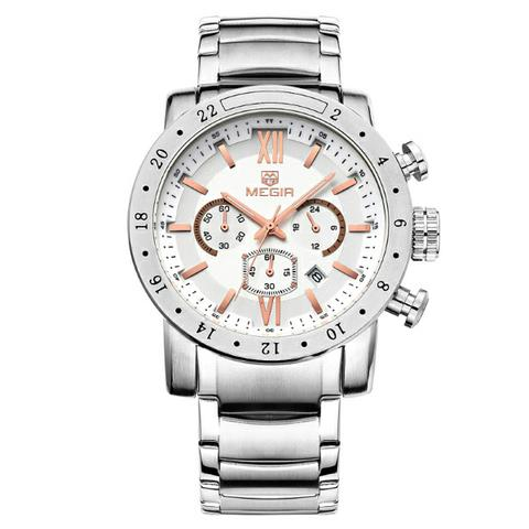 0140e669fdc Relógio Top Megir com Cronômetro Data á prova d água 100% Novo e Original