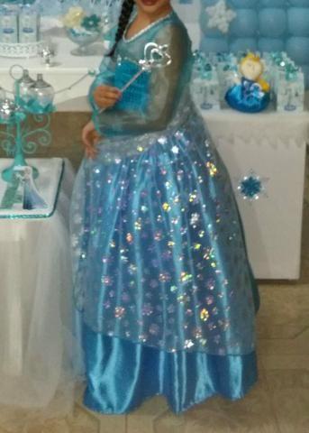 Vestido luxuoso da Princesa Elsa - Foto 2