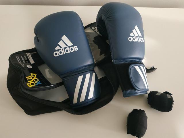 Kit de Boxe com Luva Adidas