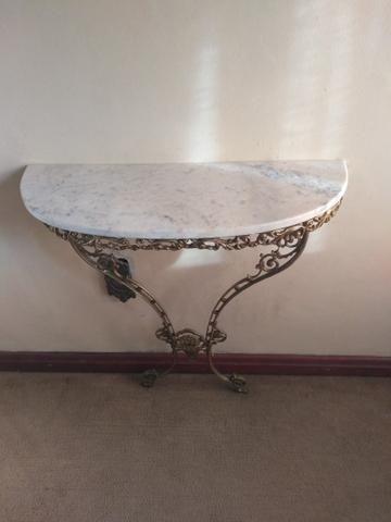 Console em bronze com pedra de mármore, com espelho - Foto 3
