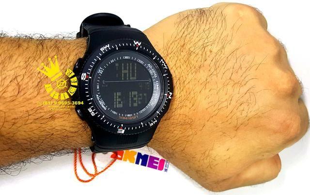 e5670cd577c Relógio Militar Unissex Cronô Hora Duplo Prova D água Entrega Grátis  4xCartão 996953694
