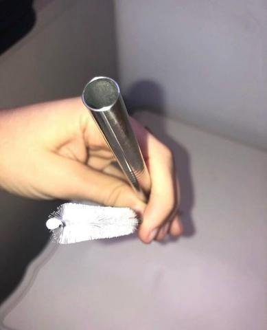 Canudo de Inox + Escova de limpeza - Foto 3