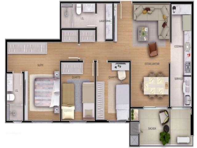 Apartamento, 2 Vagas de Garagem - Foto 8