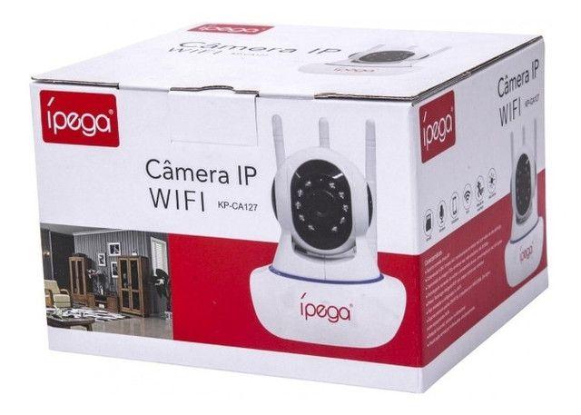 Câmera IP Wifi 3 Antenas UltraHD 1080p - Filma e grava no escuro total - Foto 5