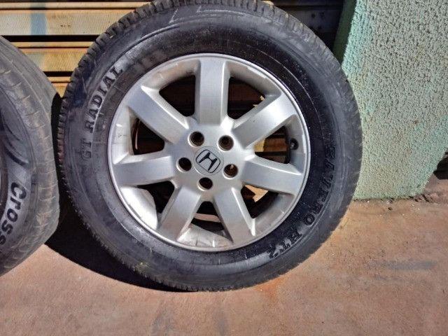 Jogo Roda Pneu Aro 17 Honda Crv 2011 - Foto 2