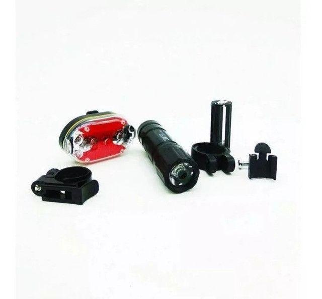 Lanterna Bike Kit Pilha (frente e traseira) - Foto 2
