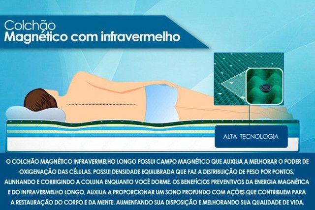 Colchão Magnético Massageador com Infravermelho Longo Completo 15 anos Garantia - Foto 4