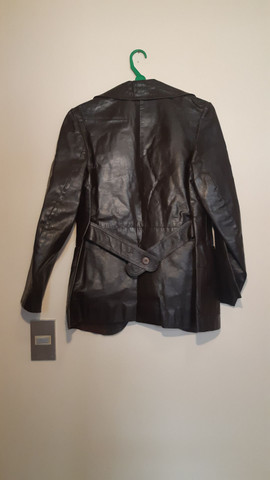 Casaco de couro legítimo marrom - Foto 2