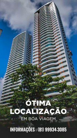 Apartamento em boa viagem 4 quartos 2 vagas de garagem , 185m² - padrão moura dubeux - Foto 2