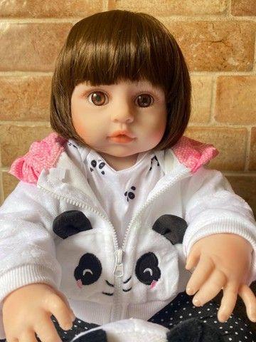 Linda Boneca bebê Reborn toda em Silicone Realista 48cm Nova Original (aceito cartão  - Foto 4