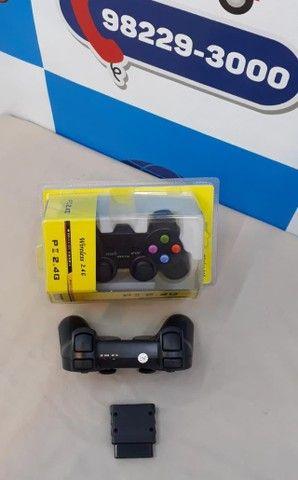 Controle PS2 NS-2020 duploshock ? Entrega Gratis  - Foto 5