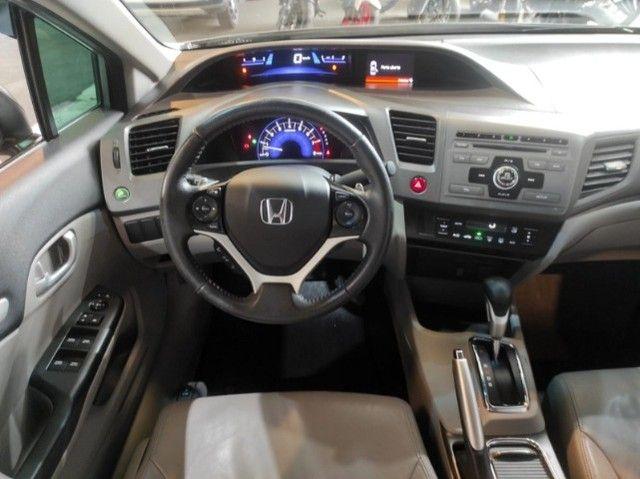 Civic Lxr 2.0 Flexone 2014 Automático , bancos em couro , completo  - Foto 5