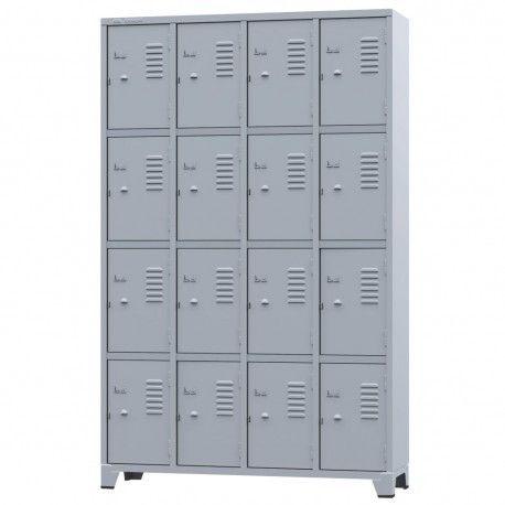 Armário para vestiário com 16 portas