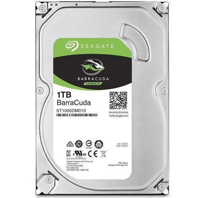 HD Seagate BarraCuda, 1TB, 3.5´, SATA - ST1000DM010 ou 12X R$ 28,57
