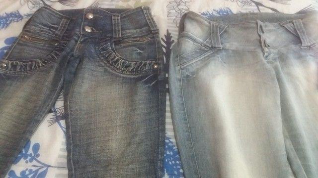 Lotinho de calcas jeans femeninas 150,00 - Foto 2