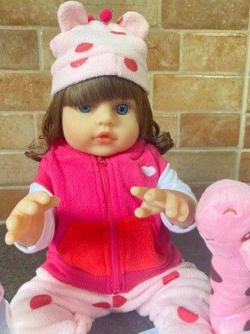 Linda Boneca bebê Reborn toda em Silicone Realista 48cm Nova Original (aceito cartão  - Foto 6