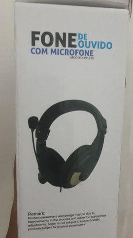 Fone e microfone de ouvido - Foto 3