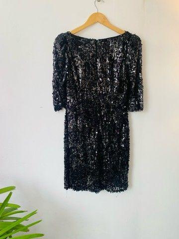 Vestido paetê curto preto P/M  - Foto 4