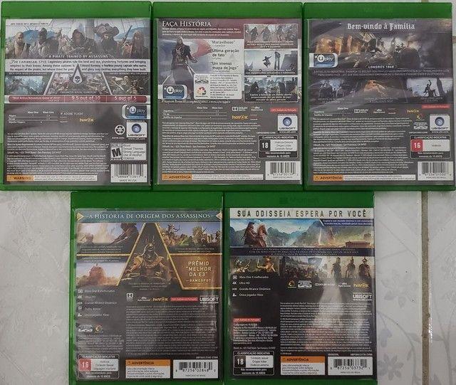 Assassin's Creed Black Flag, Unity, Syndicate, Origins e Odyssey. Leia a descrição.  - Foto 2