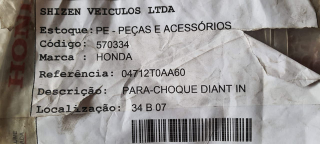 Parachoque Dianteiro inferior Honda CRV  - Foto 3