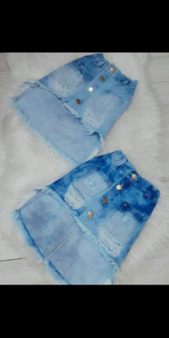 Saia jeans infantil Blogueirinha