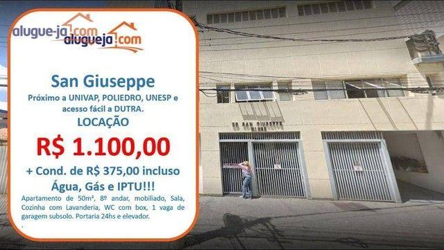 Apartamento com 1 dormitório para alugar, 50 m² por R$ 1.100/mês - Centro - São José dos C