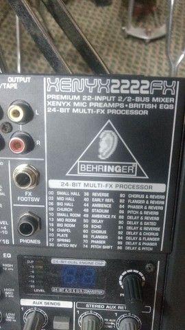 Estúdio de ensaio completo bateria amplificador cx ativa microfone    - Foto 5