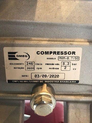 Compressor Motomil 50L - Muito Novo! - Foto 5