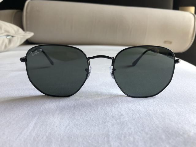 Óculos de Sol Ray Ban Hexagonal Preto - Bijouterias, relógios e ... bd81cdc0a6