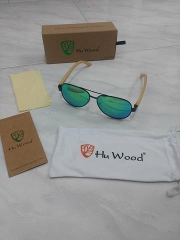 2a4bb01074bb0 Raridade óculos de sol aviador espelhado com haste de bambu ...
