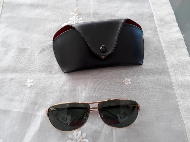 31e0f4f0e131c Óculos Rayban Verde e Dourado Rb3342 Original - Bijouterias ...