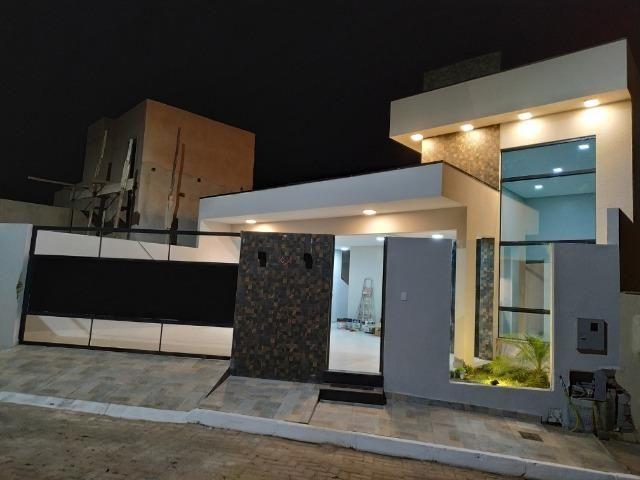 Casa Nova c/ 3 Suítes + Área de Lazer em Cond. Fechado na DF-425 - Sobradinho - Foto 2