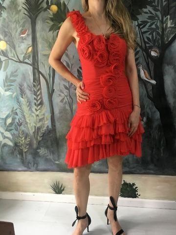 Vestido festa vermelho