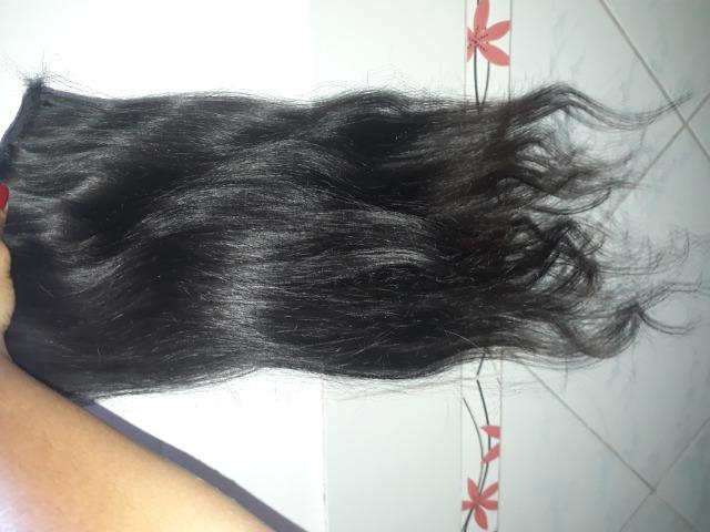 2 telas cabelo humano 60cm - Foto 3