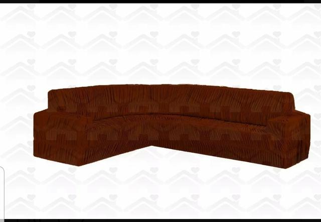 Capa de sofá grande de canto - Foto 2